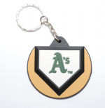Oakland As Home-plate Keyring, A Logo